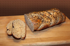 自创工匠面包 免版税图库摄影