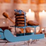 自创巧克力的曲奇饼 免版税库存照片