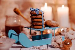 自创巧克力的曲奇饼 库存照片