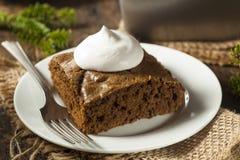 自创布朗姜饼蛋糕 库存照片