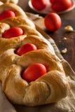 自创希腊人复活节面包 免版税库存图片