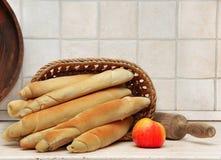自创开胃的面包 免版税库存照片