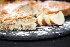 自创开胃苹果饼 免版税图库摄影