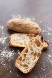 自创意大利ciabatta面包 免版税图库摄影