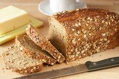 自创新鲜的面包 免版税库存照片