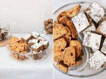 自创曲奇饼和果仁巧克力 库存照片