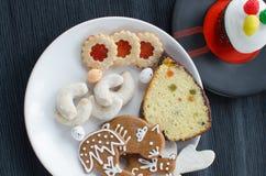 自创曲奇饼用松饼 库存照片