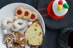 自创曲奇饼用松饼 免版税库存照片
