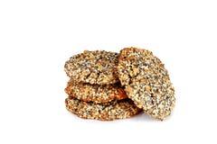 自创曲奇饼饼干,与芝麻籽和罂粟种子iso 免版税库存图片