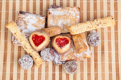 自创曲奇饼,甜点 库存图片