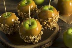 自创有机糖果乳脂糖苹果 免版税库存图片