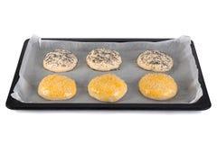 自创未加工小圆面包准备 免版税库存照片