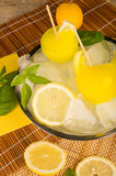 自创柠檬冰流行音乐 库存照片