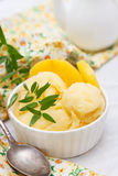 自创桃味冰淇凌 免版税库存照片