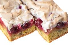 自创樱桃饼,隔绝在白色背景 免版税图库摄影