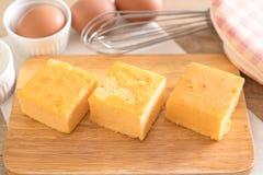 自创橙色蛋糕 库存图片