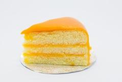 自创橙色蛋糕 免版税库存图片