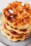 自创比利时人列日或糖奶蛋烘饼 库存图片