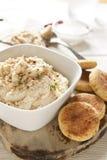 自创沙拉三明治和Hummus 免版税库存图片