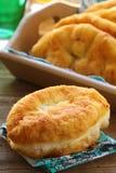 自创油煎的饼用土豆 库存图片