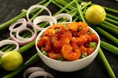 自创海鲜开胃菜沙拉 免版税库存图片