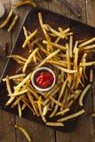 自创烤箱被烘烤的炸薯条 免版税库存图片