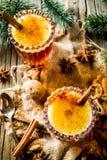 自创热的涂奶油的兰姆酒 免版税库存图片