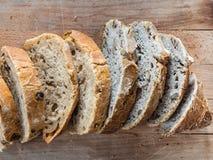 自创热的面包 库存照片