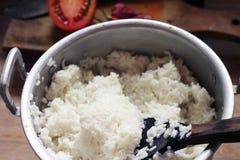 自创烹调米 免版税库存图片