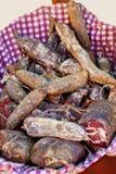 自创熏制的pancetta 免版税图库摄影