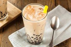 自创牛奶泡影茶用珍珠粉 库存照片
