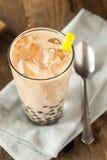 自创牛奶泡影茶用珍珠粉 图库摄影