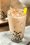 自创牛奶泡影茶用珍珠粉 库存图片