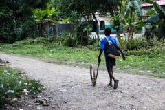 自创玩具在海地 免版税库存图片