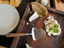自创的干酪 库存照片
