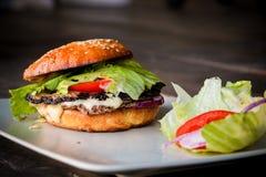 自创的汉堡包 免版税库存照片