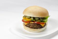 自创的汉堡包 库存图片