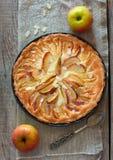 自创的苹果蛋糕 免版税库存照片