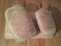 自创的面包 免版税库存照片