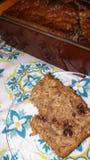 自创的香蕉面包 免版税库存照片