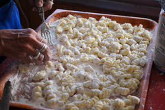 自创的gnocchi 免版税库存照片