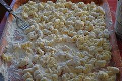 自创的gnocchi 免版税库存图片