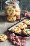自创糖果上漆的曲奇饼 库存照片