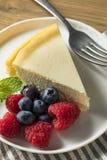自创纽约乳酪蛋糕 图库摄影
