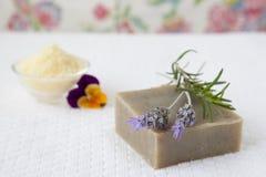 自创肥皂 免版税库存照片