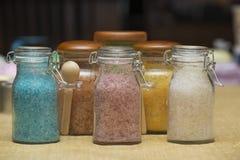自创腌制槽用食盐 免版税库存图片