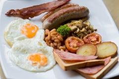 自创英式早餐 库存照片