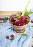 自创莓冰糕 库存图片