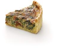 自创菠菜烟肉乳蛋饼,佛罗伦丁的乳蛋饼 免版税库存图片
