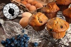 自创蓝莓松饼 库存图片